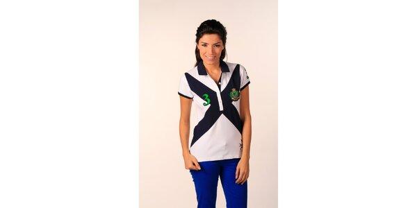 Dámské sněhobílé polo tričko Valecuatro s barevným X