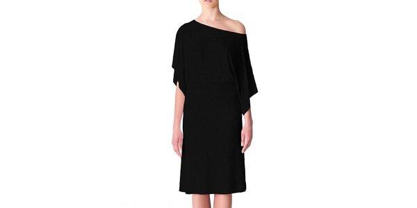 Dámské černé šaty s volným ramenem Yuliya Babich