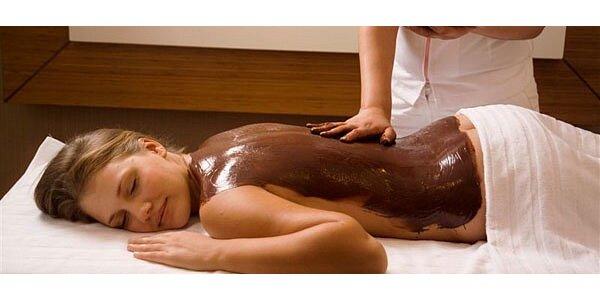 Čokoládové potěšení. 90 minut čokoládové masáže s čokoládovým zábalem v centru…