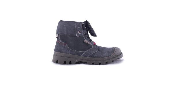 Pánské tmavě šedé kotníčkové boty U.S. Polo