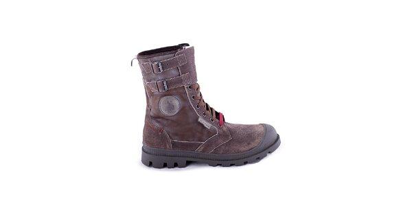 Pánské tmavě hnědé kotníčkové boty U.S. Polo