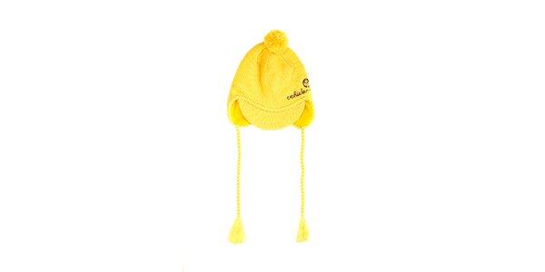 Sytě žlutý dámský kulich značky Vehicle s kšiltem
