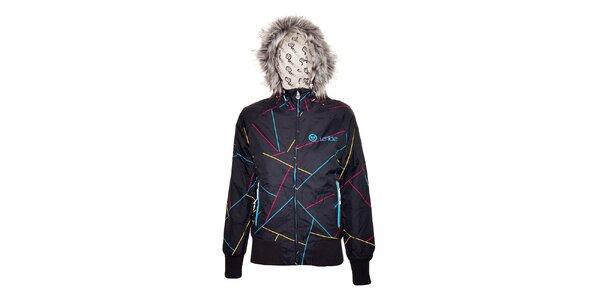 Černá dámská zimní bunda značky Vehicle s umělou kožešinou