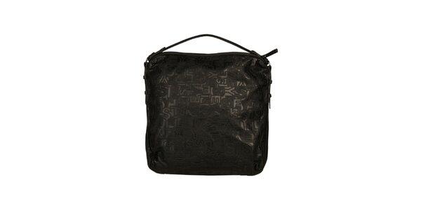 Dámská černá kabelka se vzorem Sisley