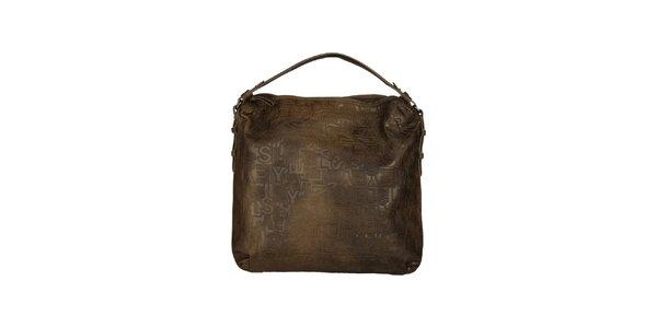 Dámská hnědá kabelka se vzorem Sisley