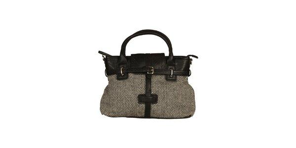 Dámská kabelka s černo-bílým vzorem Sisley