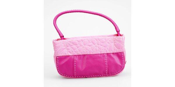 Dámská růžová prošívaná kabelka Sisley