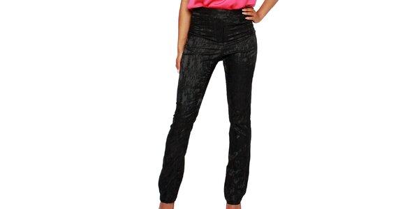 Dámské černé kalhoty se vzorem Andrea G Design