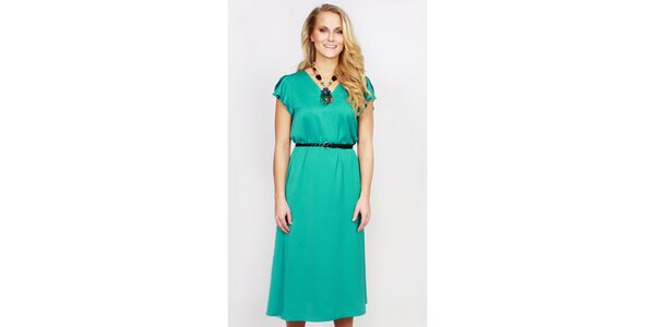 Dámské zelené delší šaty Andrea G Design