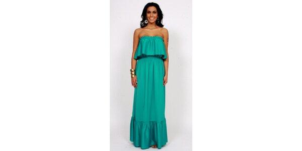 Dámské dlouhé zelené šaty Andrea G Design