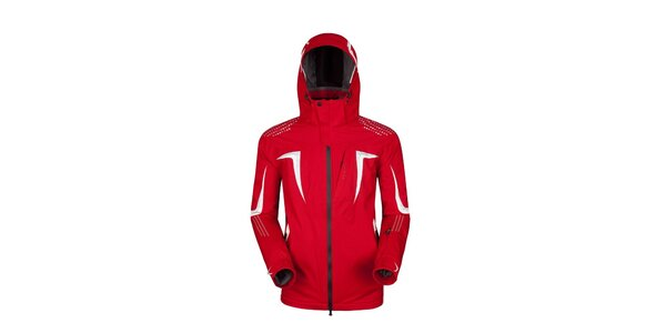 Pánská červená bunda s bílými detaily Husky