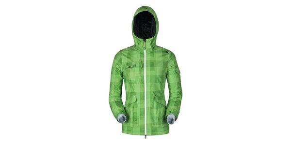 Dámská zelená kostkovaná bunda Husky