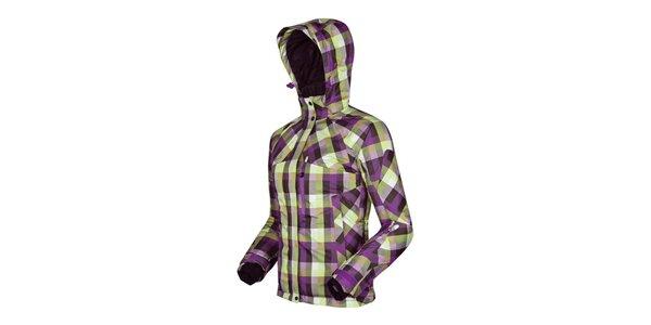 Dámská nachovo-zeleně kostkovaná bunda Husky