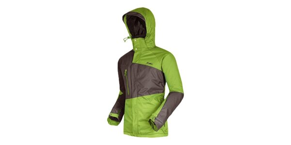 Pánská zeleno-šedá lyžařská bunda Husky