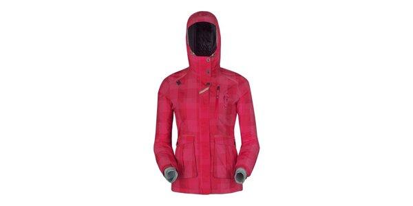 Dámská růžově kostkovaná bunda Husky