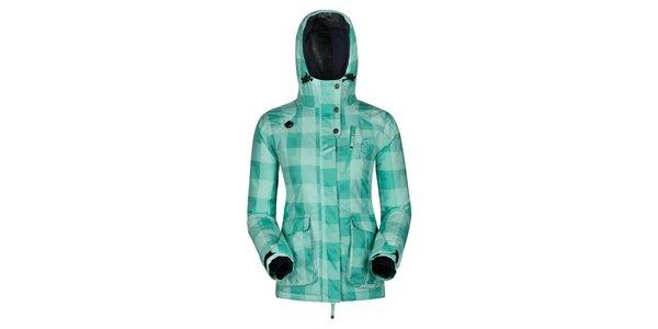 Dámská zeleně kostkovaná bunda Husky