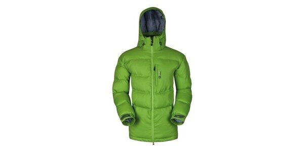 Pánská zelená prošívaná péřová bunda Husky