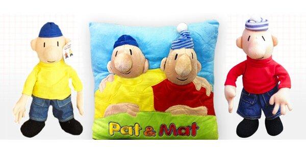 Dvojice Pat a Mat z plyše nebo polštář s jejich obrázkem