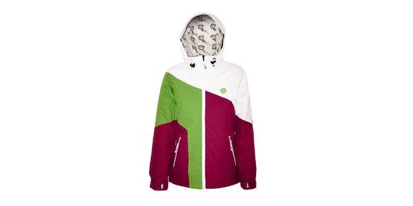 Tříbarevná dámská zimní bunda značky Vehicle