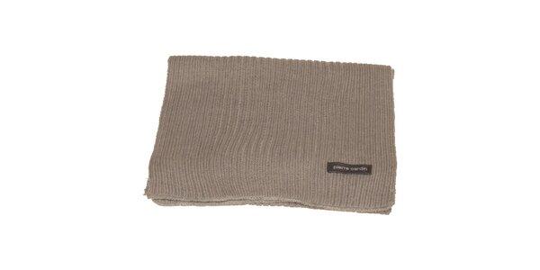 Béžová pletená šála Pierre Cardin