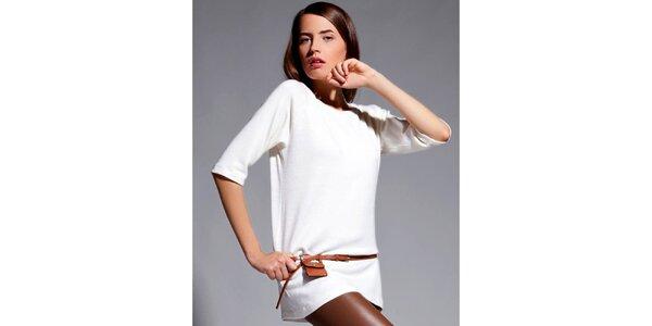 Dámské krémové tričko s tříčtvrtečními rukávy Lanti