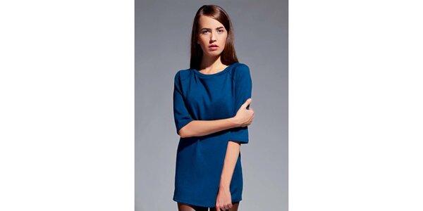 Dámské modré tričko s tříčtvrtečními rukávy Lanti