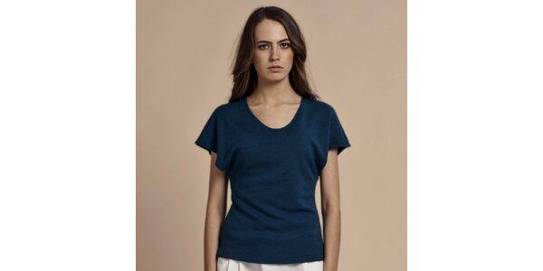 Dámské modré tričko s krátkými rukávy Lanti