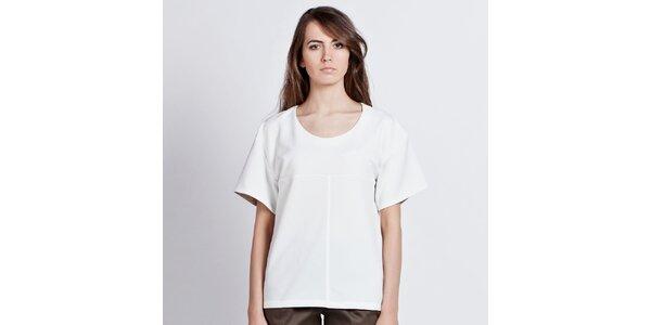 Dámský bílý top s ohrnovacími rukávy Lanti
