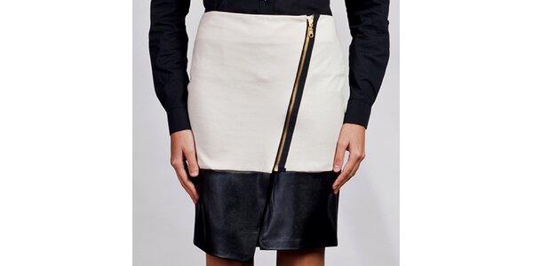 Dámská bílá asymetrická sukně Lanti