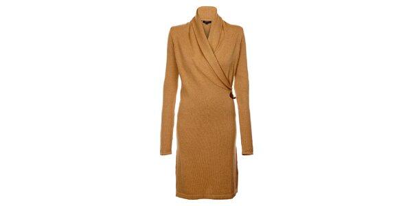 Béžové zavinovací šaty Tommy Hilfiger