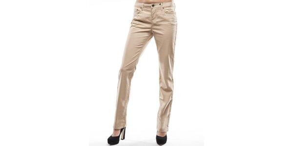 Dámské béžové rovné chino kalhoty Tommy Hilfiger
