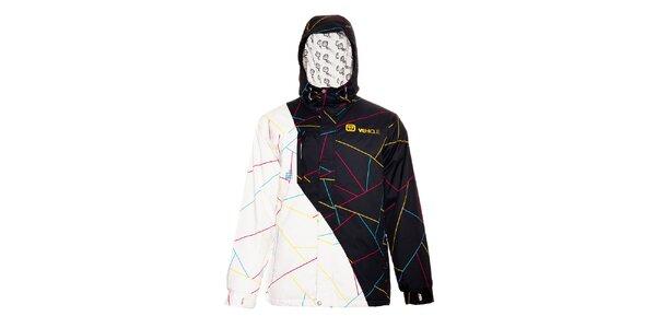 Černobílá pánská zimní bunda značky Vehicle
