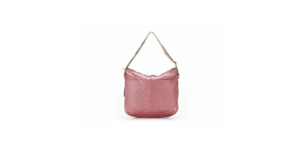 Dámská růžová kabelka s béžovými detaily Abbacino