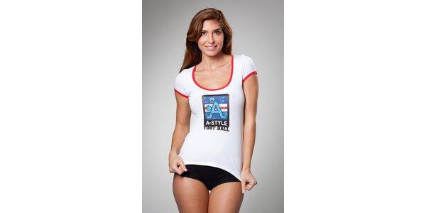 Dámské bílé tričko A-Style s potiskem
