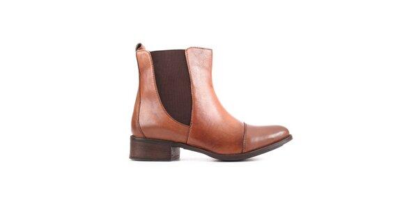Dámské béžové chelsea boty City Shoes