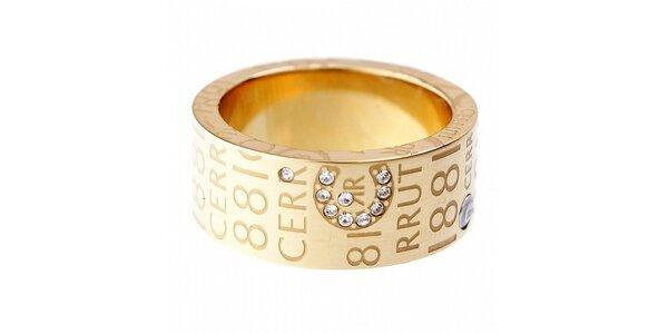 Dámský zlatý prsten Cerruti 1881 s kamínky