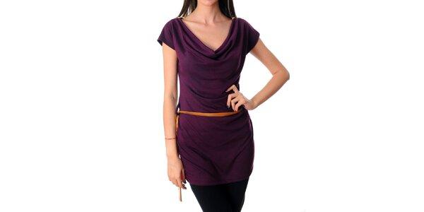 Dámské tmavě fialové šaty Ribelli