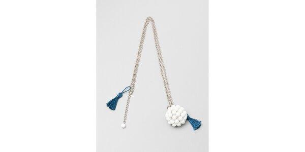 Dámský stříbrný náhrdelník s bílým přívěskem Pietro Filipi