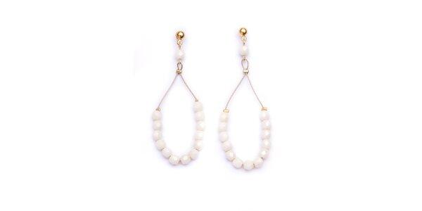 Dámské perlově bílé náušnice Pietro Filipi