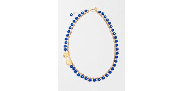 Dámský náhrdelník s modrými korálky Pietro Filipi