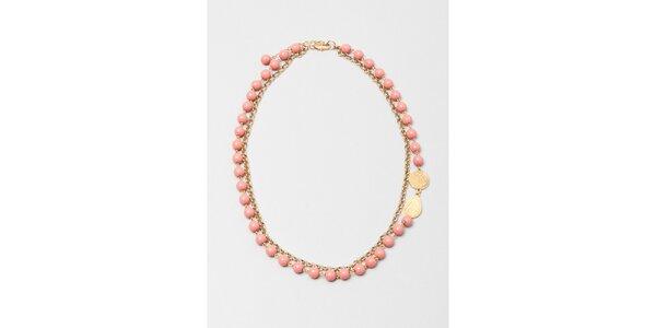 Dámský náhrdelník s růžovými korálky Pietro Filipi