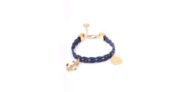 Dámský modro-zlatý náramek s kotvičkou Pietro Filipi