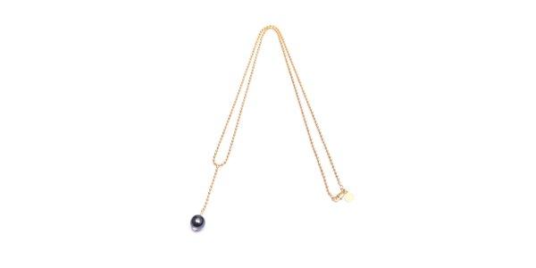 Dámský zlatý perličkový náhrdelník s kuličkou Pietro Filipi