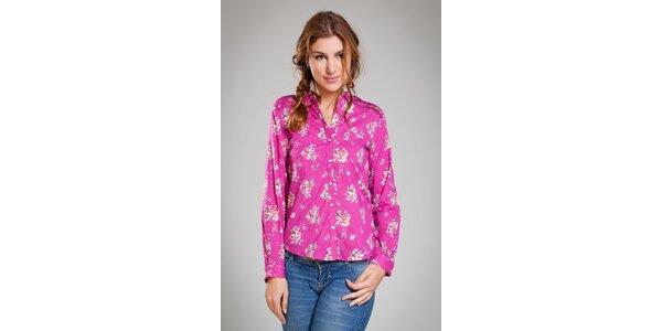 Dámská sytě růžová košile Pepita Pérez s potiskem růží