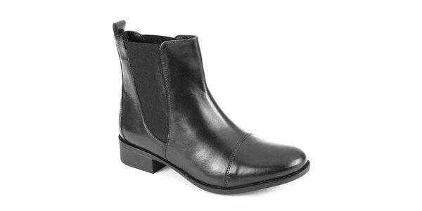 Dámské černé chelsea boty City Shoes