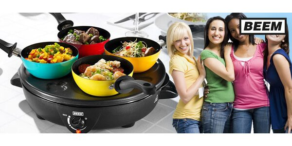 Elektrický party talíř 4v1 pro zábavné stolování