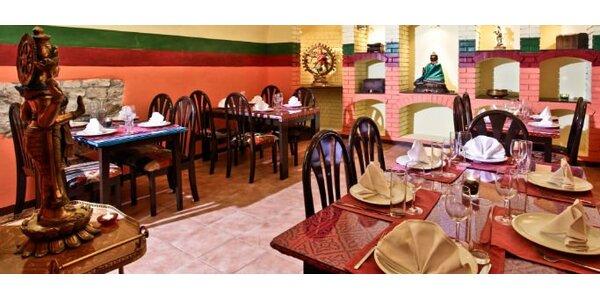 249 Kč za poukaz na jídlo a pití v indické restauraci v hodnotě 700 Kč.