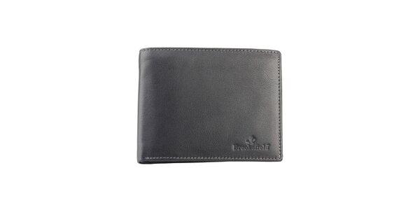Černá kožená peněženka Brooksfield