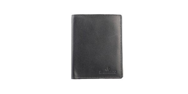 Černá obdélníková prošívaná peněženka Brooksfield
