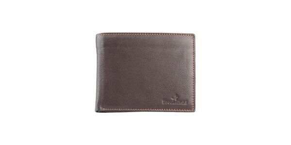 Prošívaná hnědá peněženka Brooksfield